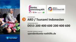 ARD Spendentafel Tsunami Indonesien