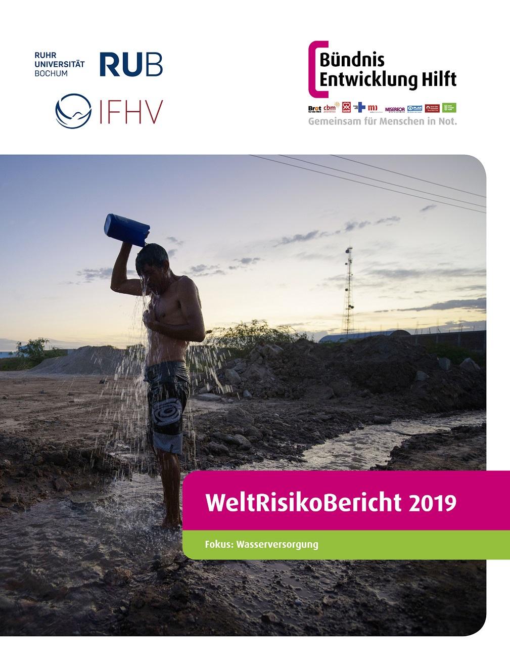 Cover für den Weltrisikobericht 2019