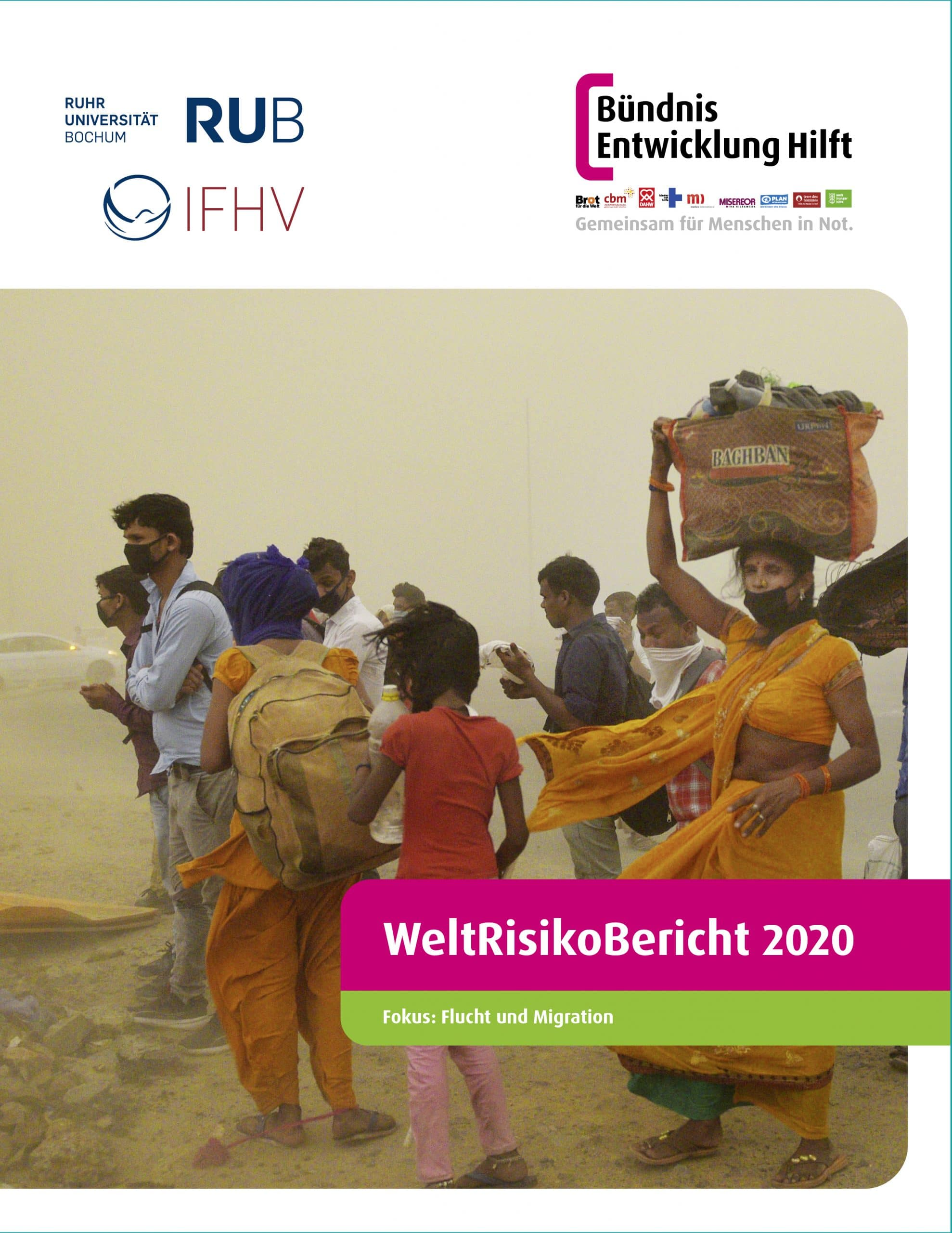 Cover WeltRisikoBericht 2020