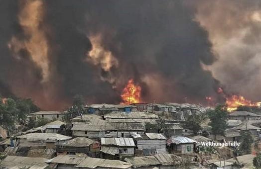 Nach dem Brand in Cox's Bazar: Tausende Rohingya ohne Schutz und Unterbringung