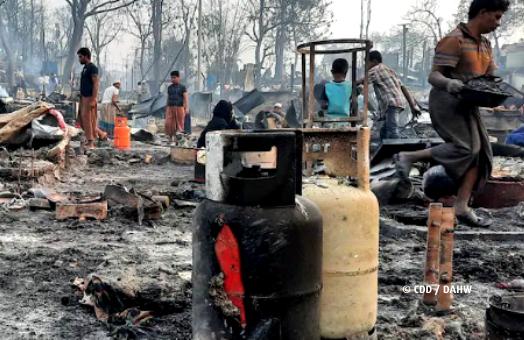 Keine Seltenheit: Brände in Geflüchtetencamps